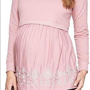 Maternity flounce sweatshirt